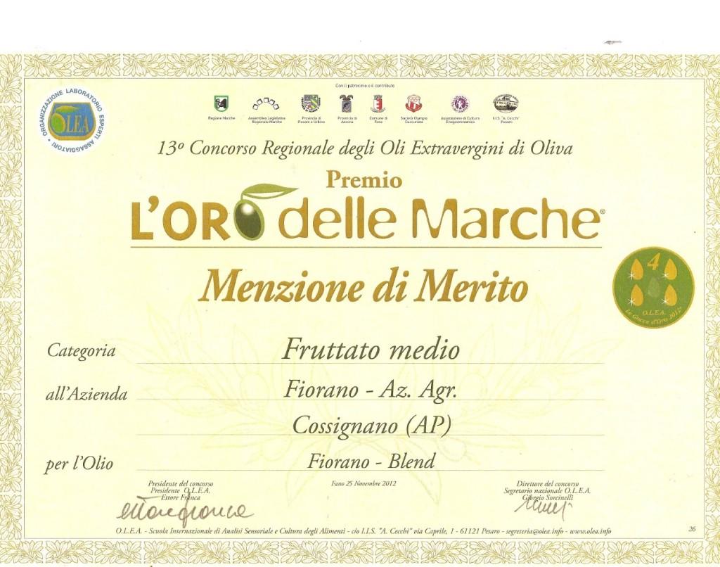 premio extrevergine d'oliva marche