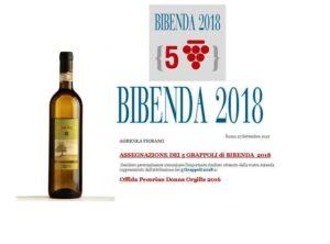 DONNA ORGILLA 2018 5 grappoli BIBENDA